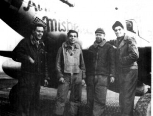 Capt. Jesse Frey and his crew in 1945