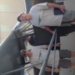 Aircraft restorers Jim Johnson, Pat Devine and Mike LeTrello