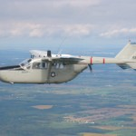 The O-2A in flight.