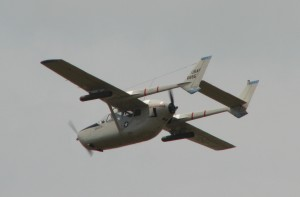 The O-2A with rocket launcher pods.