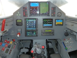 The advanced, 4th-generation cockpit of L-39 N39JV.