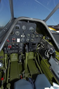 Front Cockpit with original WWII radios