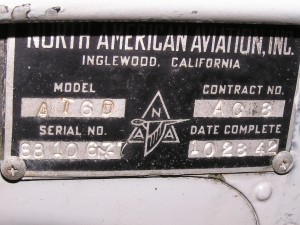 Data Plate.  Notice the mis-stamped Serial #.