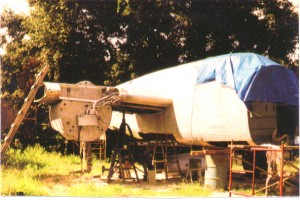 Panchito in Tom Reilly Storage Yard wating for restoration