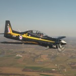 Tucano in formation over Kentucky