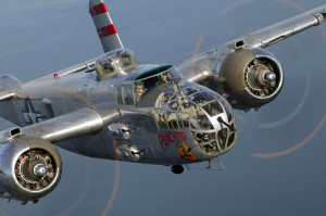 Panchito in flight near Tampa Florida (Jim Koepnick EAA photo)