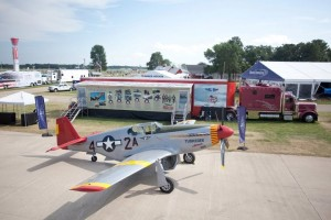 Commemorative Air Force Red Tail Squadron with the P-51C and RISE ABOVE Traveling Exhibit