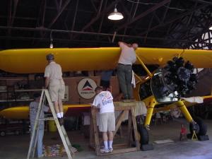 Restoration of Stearman 708 continues.