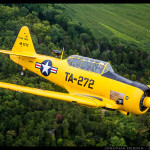 Dan Haug's Texan in flight